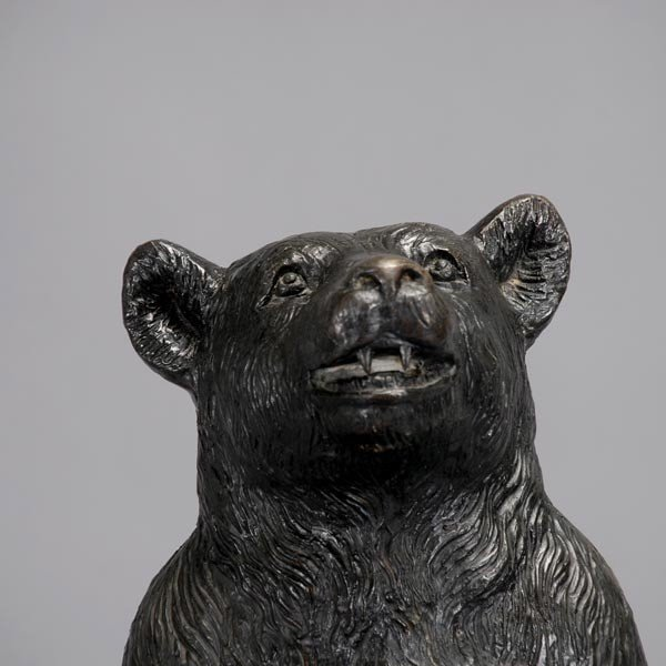 419: Black Forest Cast Iron Bear Umbrella Stand - 2
