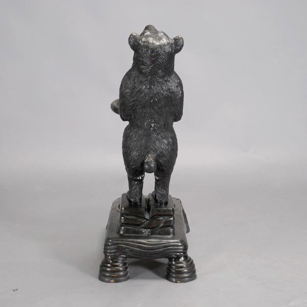 419: Black Forest Cast Iron Bear Umbrella Stand - 4