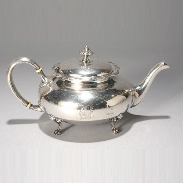 445: Shreve & Co. Sterling Teapot with Paw Feet