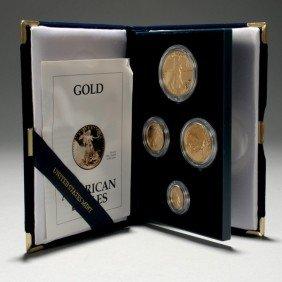 1003: U.S. 1993 Gold Bullion Coins Proof Set.