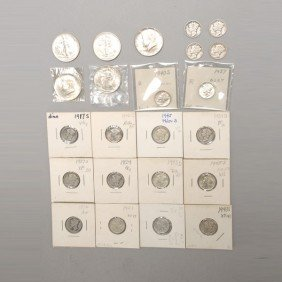 Collection Of United States Silver Coins.