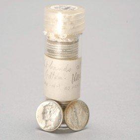 38 U.S. Mercury Head Silver Dimes, 1940-1944.