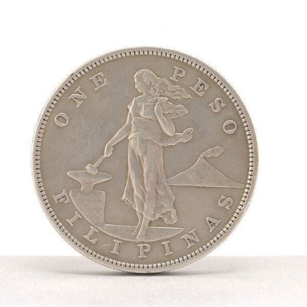 1157: Philippine Silver Coin, 1906-S, XF.