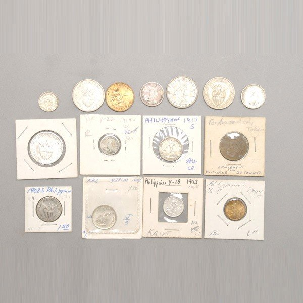 1160: Fifteen Philippine Coins.