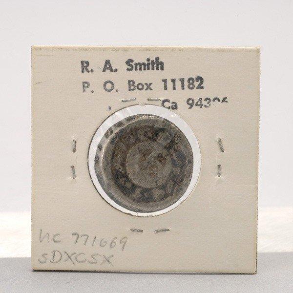 1163: Philippine 1743 Barilla Lead Coin.