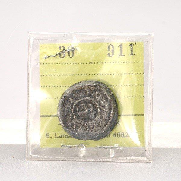 1166: Philippine 1743 Philip V Barilla Lead Coin.