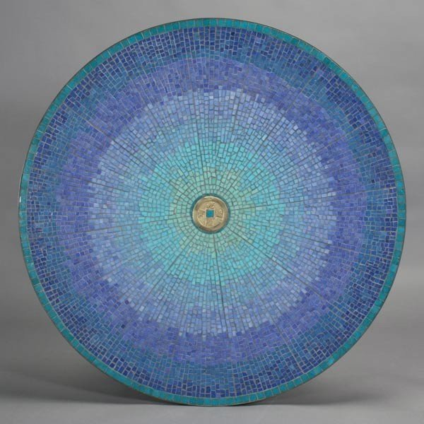 2004: Duella Granger Mosaic Table with Coin Center