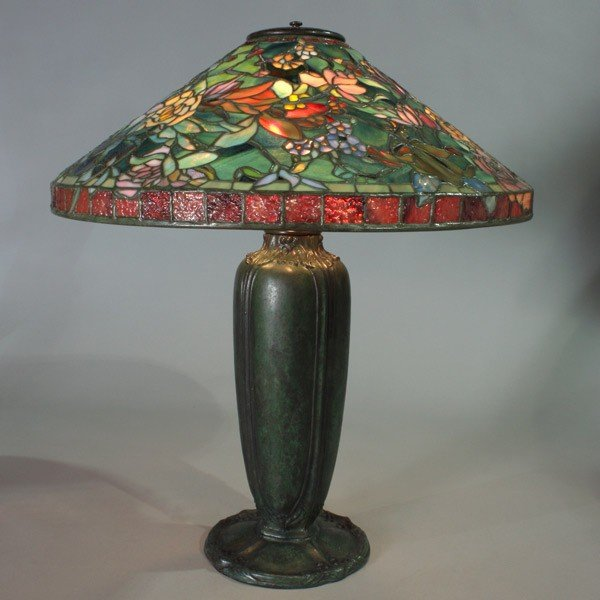 2008: Porcelli Leaded 'Huysum Bouquet' Lamp