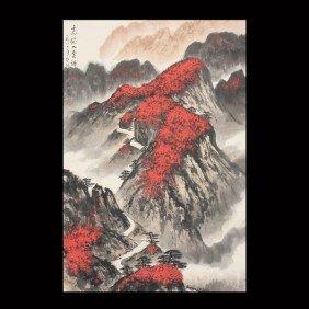 321: A Hanging Scroll: Landscape