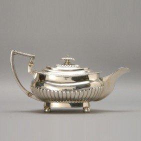 381: Georgian Sterling Teapot Hall marked London