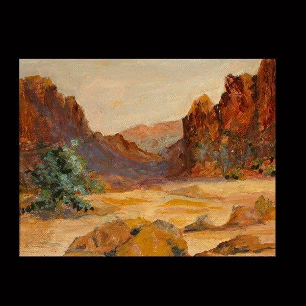 647: R. Brownell McGrew. Desert landscape.  Oil