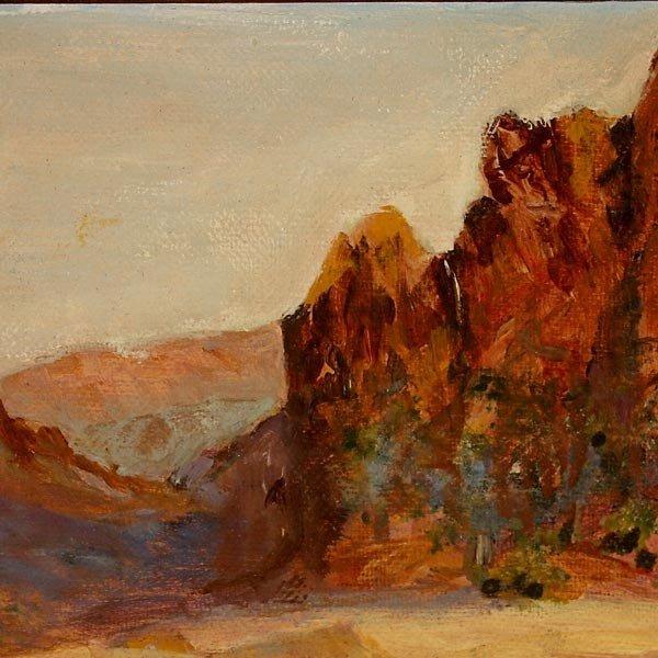 647: R. Brownell McGrew. Desert landscape.  Oil - 3