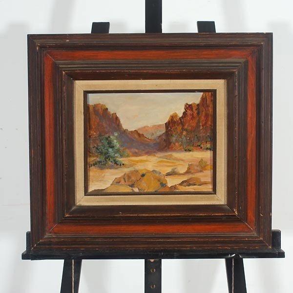 647: R. Brownell McGrew. Desert landscape.  Oil - 4