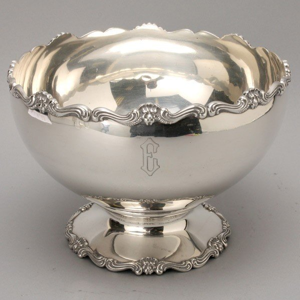 425: Shreve & Co. Sterling Punch Bowl