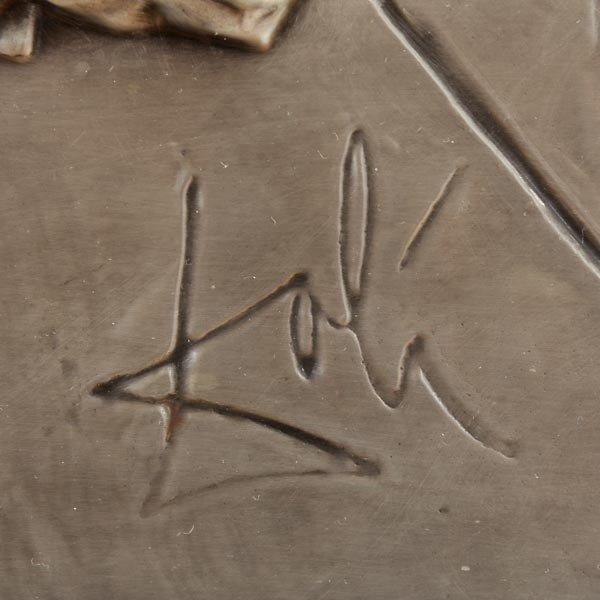 """765: Dali """"Last Supper"""" Bas relief - 2"""