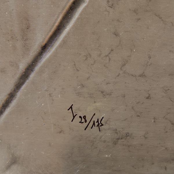 """765: Dali """"Last Supper"""" Bas relief - 3"""