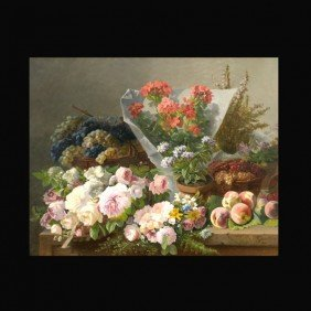 "1003: Clement Gontier ""Still Life"" Oil"