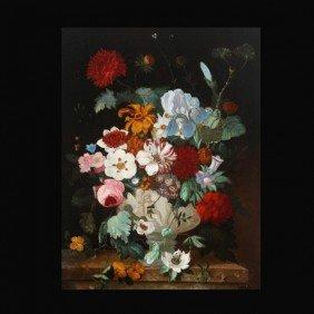 "1005: Jan Van Huysum ""Still Life with Flowers"" Oil"