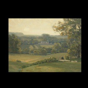 1010: SIR ALFRED EAST, Green Rolling Hills, Oil