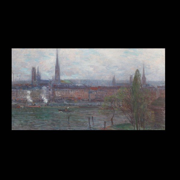 1012: JEAN EUGENE CLARY, A View of Rouen, Oil