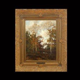 1013: ARNOLD MARC GORTER, An Autumn Landscape, Oil