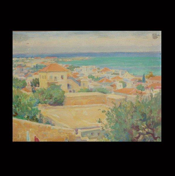 """1019: Wilhelm Wachtel """"Haifa"""" Oil"""