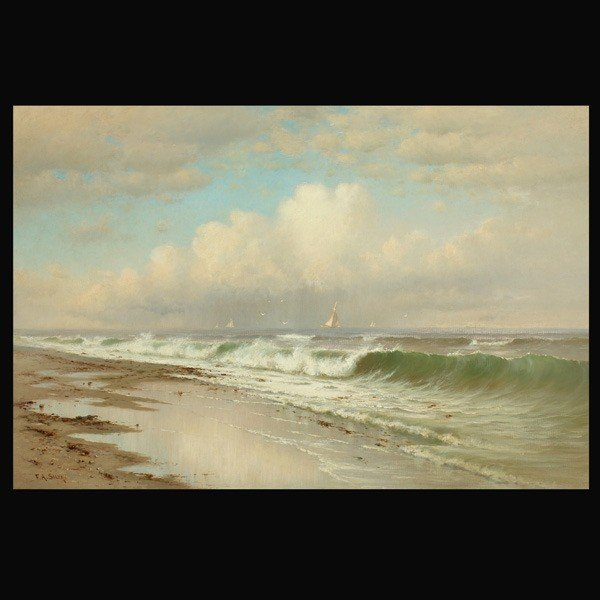 "1034: F.A. Silva ""Afternoon, Long Beach"" Oil"