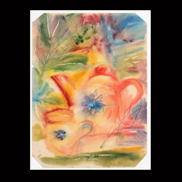 "1121: Anatoly Zverev ""Still life""  Watercolor"