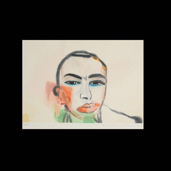 """1123: FRANCESCO CLEMENTE, """"Untitled""""  Woodcut,"""