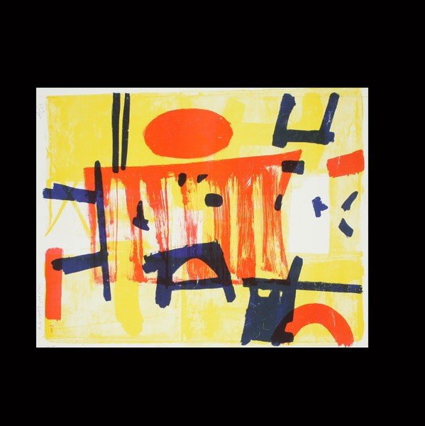 1127: EMERSON WOELFFER, Untitled Abstract, litho