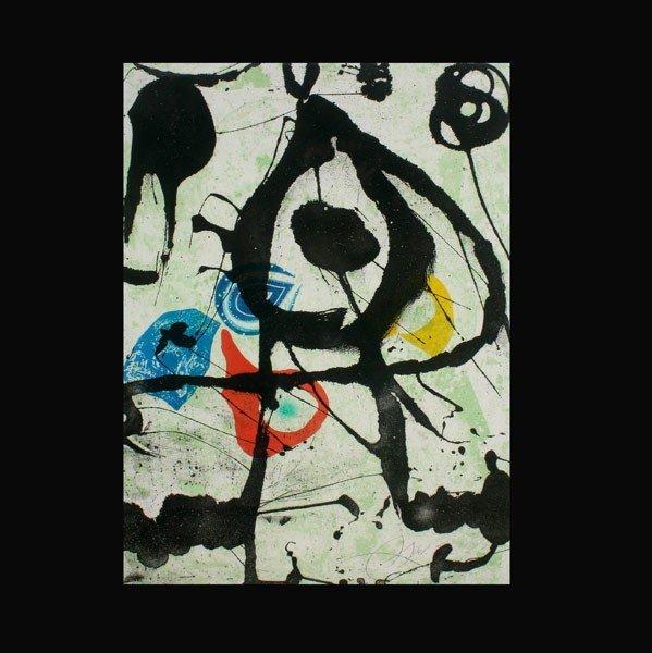 "1129: Joan Miro ""Rupestres"" Lithograph"