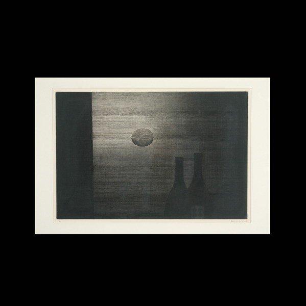 """1131: Yozo Hamaguchi """"Walnut"""" Mezzotint"""