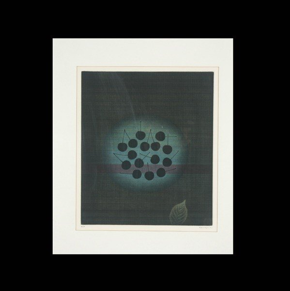 "1132: Yozo Hamaguchi ""Cherries"" Mezzotint"