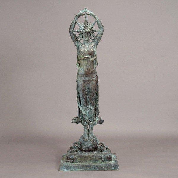 """1134: Alexander Stirling Calder """"Star Maiden"""" Bronze"""