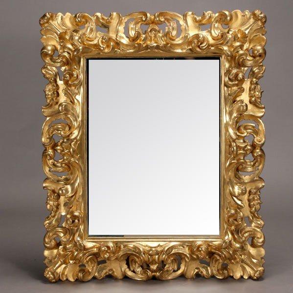 1144: Italian Baroque Style Gilt and Gessoed Mirror