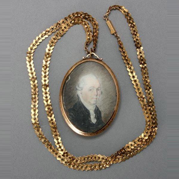 1192: James Peale Portrait Miniature, Circa 1785