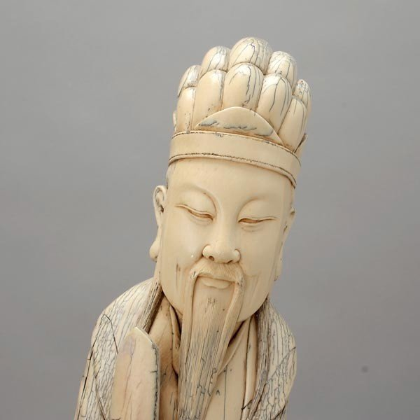 6005: A Large Carved Ivory Figure*, Late Qing - 2