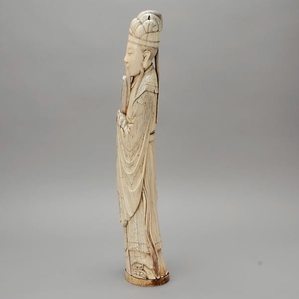 6005: A Large Carved Ivory Figure*, Late Qing - 3