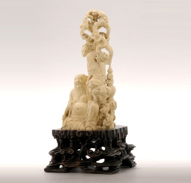6006: A Fine Ivory Figural Carving*, 19th Century