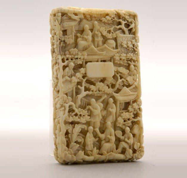 6021: A Fine Ivory Card Case*, Late 18/19th C.