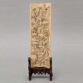 A Finely Carved Ivory Wrist Rest*