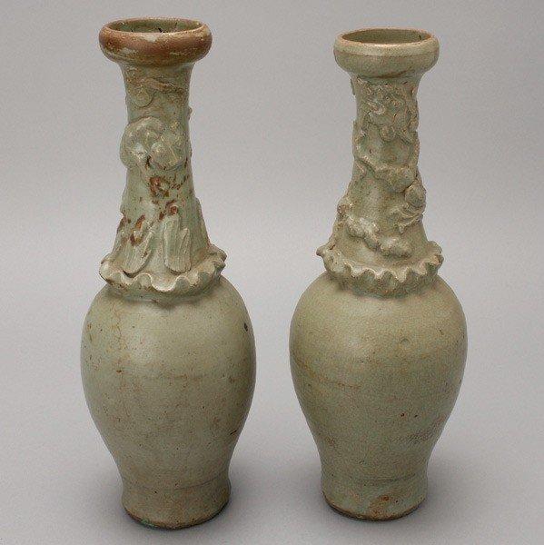 6051: A Pair of Celadon-Glazed Stoneware Vases