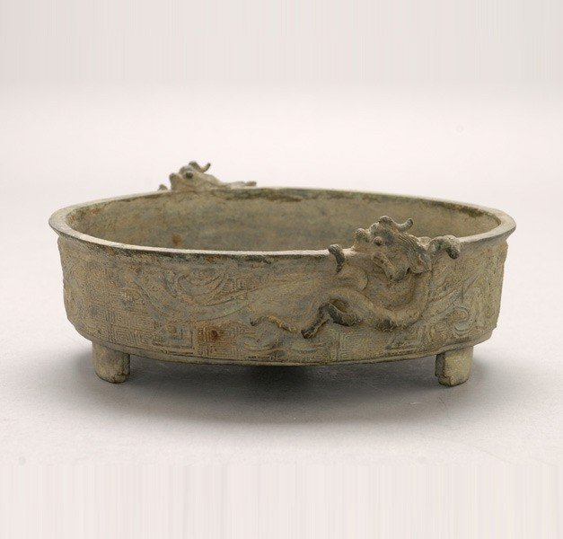 6052: A Cast Bronze Basin, Qing Dynasty