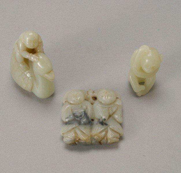 6055: Three Jade Carvings