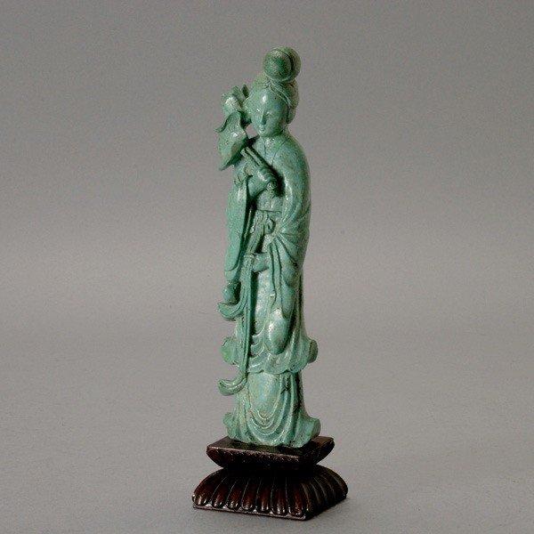 6097: A Turquoise Female Figure