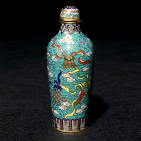 A Cloisonn�-Enameled Snuff Bottle, Qianlong Mark