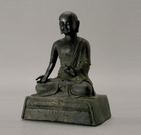 A Bronze Luohan, Qing Dynasty