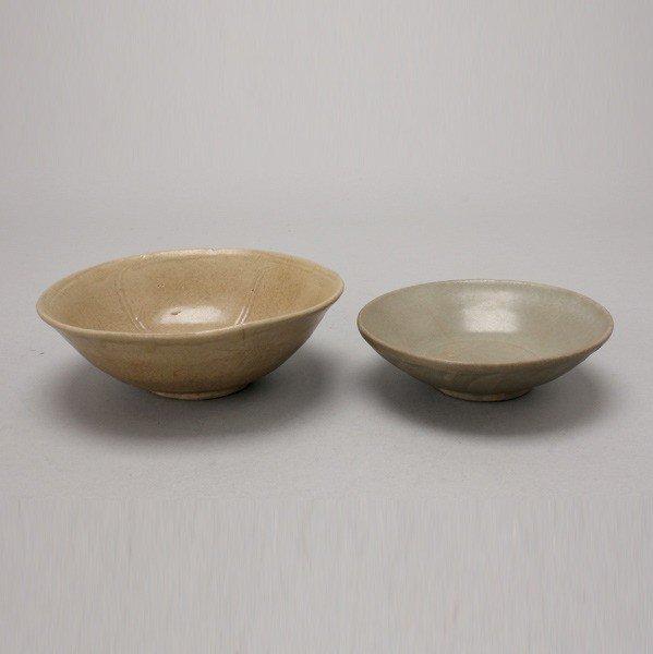 6189: Two Celadon-Glazed Ceramic Bowls