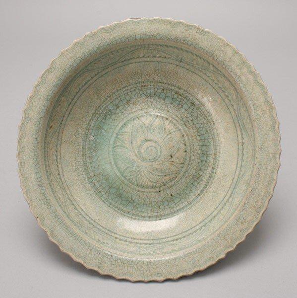 6193: A Blue-Green Celadon-Glazed Dish, Late Yuan/ Ming