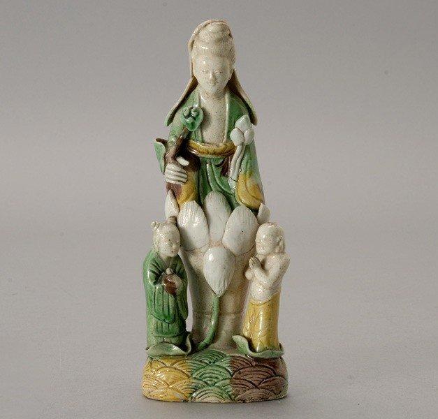 6194: A Glazed Ceramic Guanyin, Kangxi Period